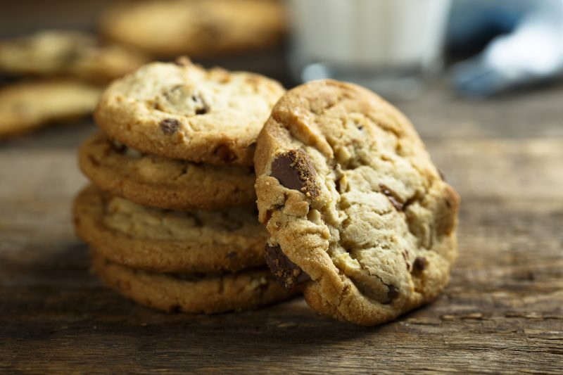 Gooey Chocolate Chip Cookies with Cream Cheese