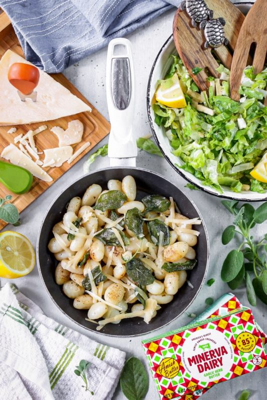 Sage and brown butter gnocchi made with minerva dairy